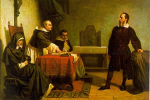 Time and Space - Galileo facing the Roman Inquistion by Cristiano Banti (1857).