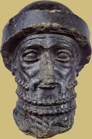 Mesopotamian head once though to be the head of Hammurabi