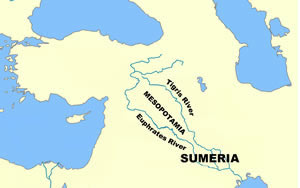 Mesopotamia - Map of Ancient Sumeria