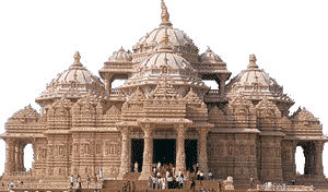 The Swaminarayan Akshardham in Delhi, India  is the world's largest Hindu temple.