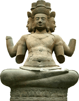 Brahma is the god of knowledge and the creator of the universe.