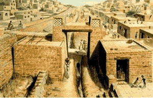Indian history - Archaeololgists have uncovered expertly planned cities built with a grid pattern of wide, straight streets.