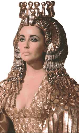 Elizabeth Taylor played Cleopatra in a 1963 movie of the same name.