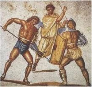 Gladiators entertained Roman audiences