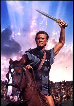 Kirk Douglas played the title role in Spartacus (1960).