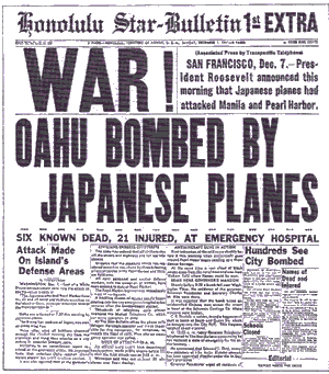 Empire of the Rising Sun - The Honolulu Star-Bulletin announces the attack on Pearl Harbor