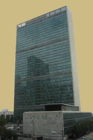 The United Nations in an international organization formed after World War II.  The UN is headquartered in New York City.