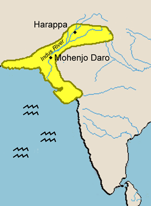 Map of the Indus River Valley
