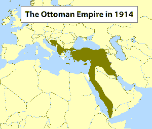 The Ottoman Empire in 1914 (map)