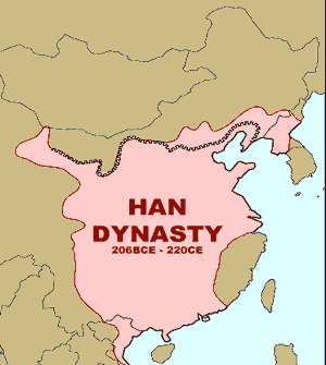 Approximate borders of the Han Dynasty