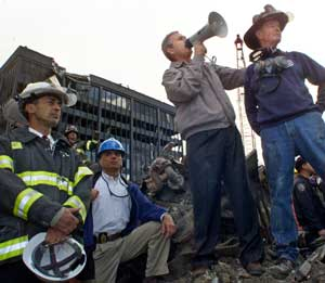 President George W. Bush at Ground Zero