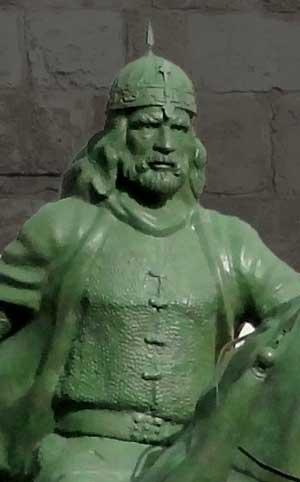 Bronze statue of Saladin