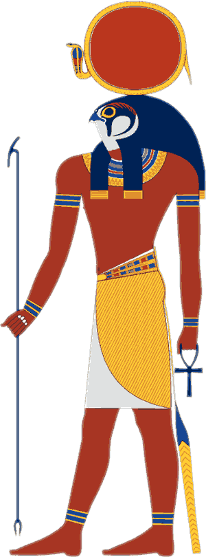 Ra, the Egyptian God of the Sun (drawing)