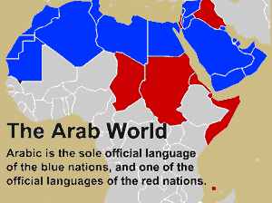 Map of the Arab World