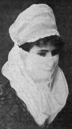 Woman wearing a Turkish veil