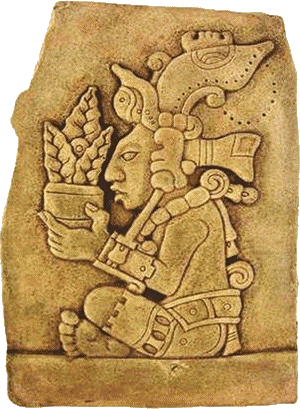Corn god of the Maya