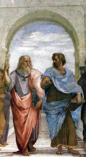 Plato and Aristotle from Raphael's The School of Athens.