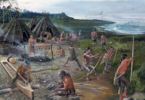 Prehistoric hunting and fishing