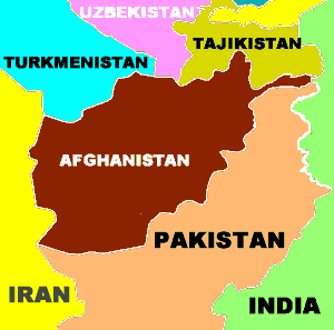 Afghanistan (map)