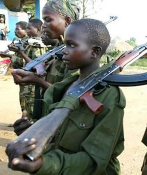 Child soldier in Liberia