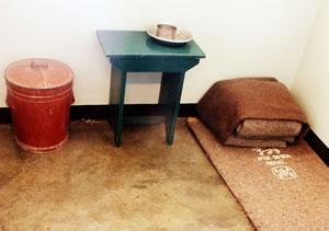 Nelson Mandela's prison cell on Robben Island.