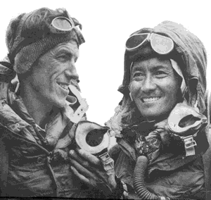 Edmund Hillary (left) and Tenzing Norgay
