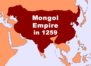 The Mongol Empire in 1259 (map)
