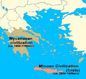 Minoans Mycenaeans (map)