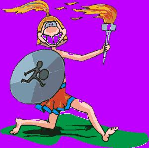 Greek Olympian (clipart)