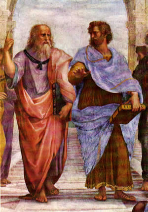 "Aristotle and Plato in Raphael's ""The School of Athens."""