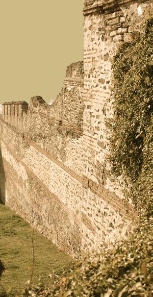 Ruins of a Greek poli wall
