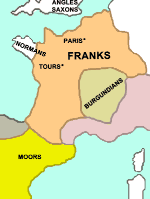 The land of the Franks (map)