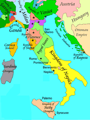Italy in 1494 (map)