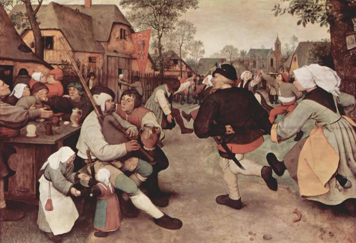 The Peasant Dance by Pieter Bruegel the Elder (c. 1569)