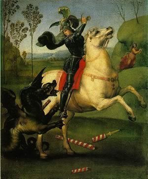St. George and the Dragon by Raphael (c. 1504)