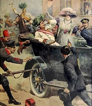 Assassination of Franz Ferdinand (illustration)