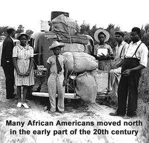 African Americans moving during World War I
