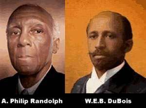 A. Philip Randolph (left) and W.E.B. DuBois