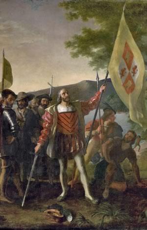 Landing of Columbus by John Vanderlyn