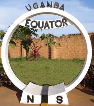 Equator monument monument in Kayabwe, Uganda