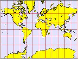Mercator Projection (clipart)