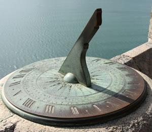 Sundial measuring time