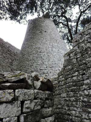 The walls of Great Zimbabwe