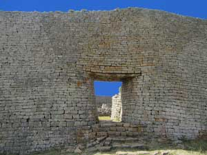 The ruins of Great Zimbabwe